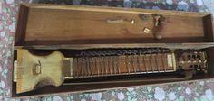 Miraj Sitar Violin Bowed string musical instrument India Burma teak Wood Cover