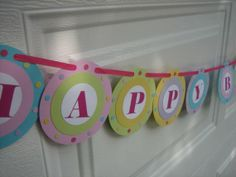 PASTEL Collection Happy Birthday Banner by CocoNeenies on Etsy