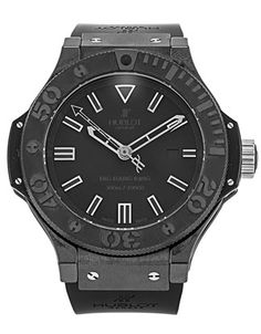 Pre-owned Limited Edition Hublot Big Bang Gents Automatic watch. 48 mm Ceramic - Black case, with Black Baton dial. Limited Edition Watches, Automatic Watch, Bigbang, Rolex Watches, Smart Watch, Black Magic, Best Deals, Men, Magazine