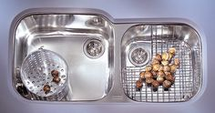 "Professional 38.75"" x 17.38"" - 19.25"" Double Bowl Kitchen Sink"
