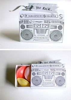 Letterpress boombox in Gifts and presents for babies, kids and adults parties such as celebrations, birthdays, anniversaries or dinners
