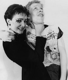 Siouxsie Sioux and Paul Cook