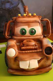 Sandy's Cakes: Cody & Reece's Lightening McQueen & Tow Mater Cake