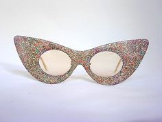 b04eb33791b Tura Extreme Dramatic Oversized Cat Eye Vintage Eyeglass Frames Lucite    Multi Color Glitter RARE Display Model New Old Stock NOS 60s 70s