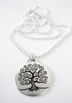 CELTIC Silver TREE of LIFE Necklace