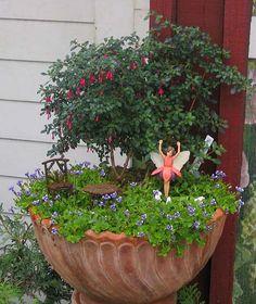 Fairy Garden in a Pot 4   Flickr - Photo Sharing!