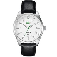 Lacoste Montreal White Dial Black Leather Mens Watch 2010580 6d2f201843