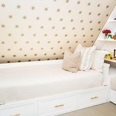 Coronata Star Wallpaper, Transitional, girl's room, Shannon Wollack