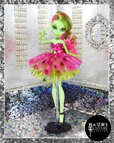 Monster Doll In Full Bloom high fashion by HauntCoutureAtelier