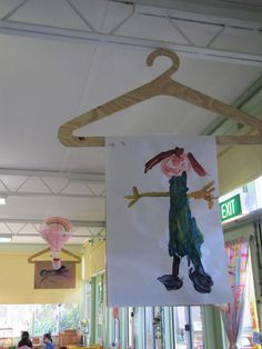 Artwork Display Idea (from Irresistible Ideas for Play Based Learning)