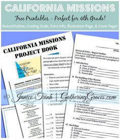 california missions printables collage