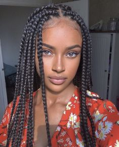 Box Braids Hairstyles For Black Women, Black Girl Braids, African Braids Hairstyles, Braids For Black Hair, Girls Braids, Girl Hairstyles, Braid Hairstyles, African Box Braids, Kids Box Braids