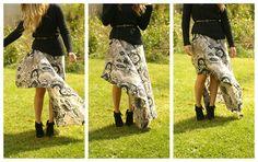 DIY Cascade High-Low Maxi Skirt (with a new twist!)