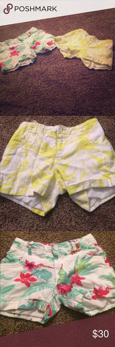 Shorts The first one you see is the yellow white shorts, and the second one is a Hawaiian type of shorts. Make sure to comment if you want these shorts!!!! Old Navy Shorts