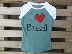 T-shirt love Brazil 1