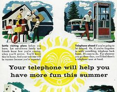 vintage phone ad | Vintage Telephone Ad - 1950's B ell System - Rotary Dial Phone for ...