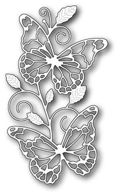 Memory Box Waltzing Butterflies craft die NEW 2015 Silhouette Cameo, Kirigami, Stencils, Memory Box Dies, Metal Embossing, Butterfly Crafts, Stencil Patterns, Scroll Saw Patterns, Hobbies And Crafts