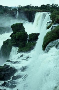 Iguazu Falls, Argentina by MacClure Places Around The World, Oh The Places You'll Go, Places To Travel, Places To Visit, Around The Worlds, Beautiful Waterfalls, Beautiful Landscapes, Wonderful Places, Beautiful Places