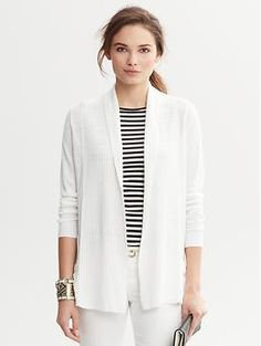 Modern Apparel, Handbags, Shoes, and Accessories Work Suits, Latest Shoes, Modern Outfits, Open Cardigan, Summer Wear, Everyday Outfits, Banana Republic, Fall Outfits, Shawl
