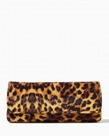 Night Leopard Flap Clutch