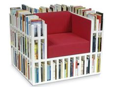a library in a chair how amazing i would love this for my room!!!!