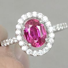 JUST ARRIVED! Vintage Oval Cut 1.5CT Cherry Pink Topaz Round Cut White Sapphire Accents Promise Engagement Wedding Anniversary Birthday Ring