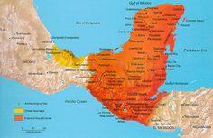 Aquí está un mapa de donde la civilización mayan se encontra en México