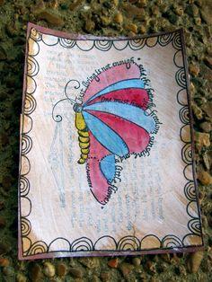 butterfly art card