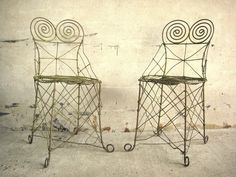 A pair of 19th century garden chairs from Peter Sohier