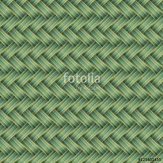 Vektör: Green Wicker Seamless pattern