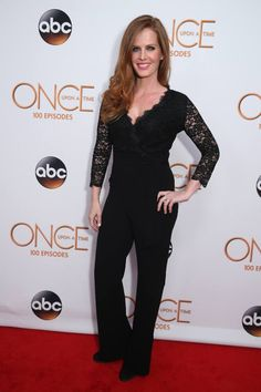 Rebecca Mader on Once Upon a Time 100th episode red carpet - 20 February 2016