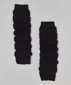 Another great find on #zulily! Black Ruffle Leg Warmers #zulilyfinds