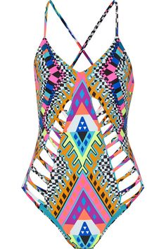 """Did Mindy Kaling Just Find the Most Flattering Swimsuit Ever?: First we read Mindy Kaling's hilarious caption, as one does: """"#nofilter needed for my new @marahoffman one piece which literally looks good on EVERYONE."""""""