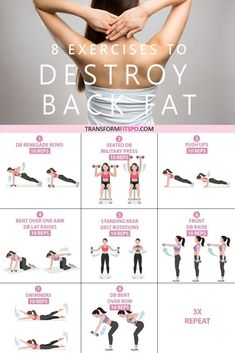This is the best 20 minutes workout plan to lose back fat. This is the best 20 minutes workout plan to lose back fat. For more workout pl… This is the best 20 minutes workout plan to lose back fat. For more workout plans visit the hust. Best 20 Minute Workout, Best Back Workout Routine, Back Fat Workout, At Home Workout Plan, Back Fat Exercises At Home, Back Workout Women, Tone Arms Workout, Arm Workout Women With Weights, Back Workouts For Women