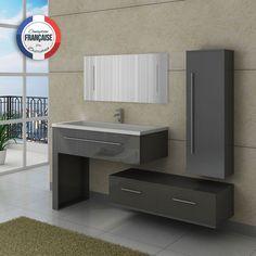 dis9251gt meuble de salle de bain gris taupe - Ensemble Salle De Bain Gris