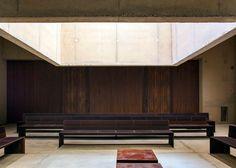 Iron-coloured concrete crematorium in Belgium