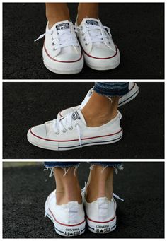 We put six methods of cleaning white Converse to the test! See which methods actually worked and are worth trying on your own! Converse White Sneakers, Yellow Converse, Converse Boots, White Chucks, Converse Style, Converse Chuck, Cleaning Converse, How To Clean White Converse