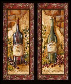 Tre Sorelle Art for Home Decor Wine Bottle Art, Wine Art, Grape Kitchen Decor, Photo Images, Tuscan Design, Fruit Painting, Wine Decor, Kitchen Wallpaper, Decoupage Paper