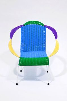 In time for Memorial Day, with its greasy barbecues and grassy revelry, come these outdoor chairs by Marni...
