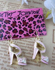 Pink High-heeled Shoes Earring