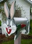 note to self: great idea...just cut out the front for the mail box of a character(or many different ones) and decorate for each holiday season..(bugs will be great for easter lol