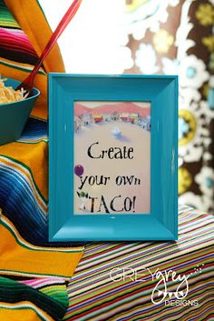 create your own taco stations are a great fiesta activity