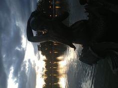 Retiro Park sunset time , Madrid