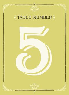 Southern Belle Table Numbers - Hoopla House