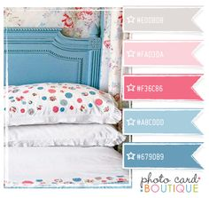 white pink blue