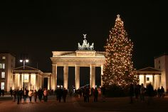 Brandenburg gate in Berlin at Christmas.  December 2013