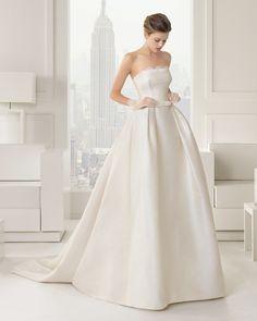vestido de novia princesa em seda e pormenor de renda coleção rosa clara 2015 modelo 81221 #casarcomgosto