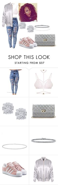 """""""#Goodmorning"""" by sammy-pinckney ❤ liked on Polyvore featuring Kamilla White, Effy Jewelry, Valentino, Anne Sisteron, BERRICLE and adidas Originals"""