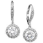 Eliot Danori Earrings, Cubic Zirconia (3 ct. t.w.) and Crystal Accent Leverback