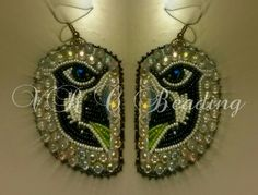 """NATIVE AMERICAN BEADWORK Seattle Seahawks Earrings By Vanessa Rae Cawston of VR.C Beading """" Beadwork & Craft """"  For more updates subscribe to: Vanessa Rae Cawston or VR.C Beading on facebook"""